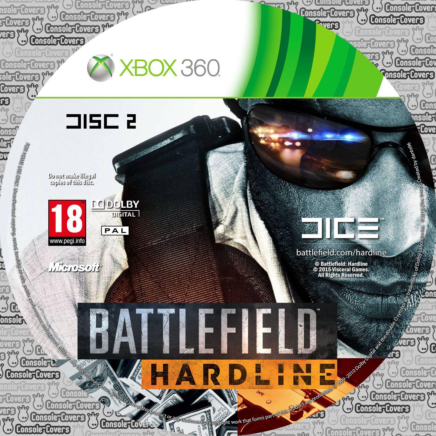 Label Battlefield Hardline Disc 2 Xbox 360