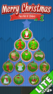 Christmas - Coloring Puzzles Games for Kids