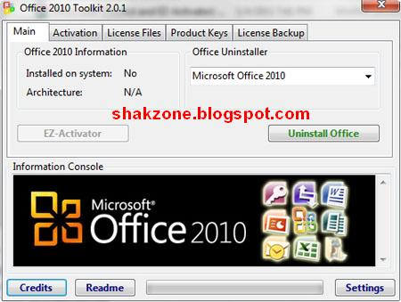 Microsoft Office 2010 Toolkit and EZ-Activator | ShakZone