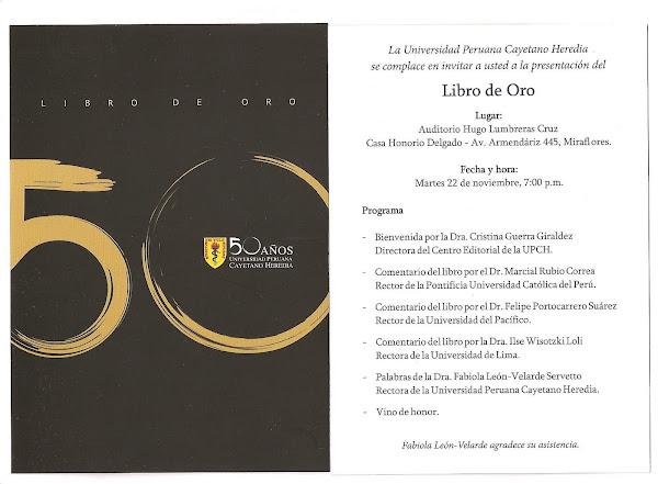 LIBRO DE ORO - UPCH 50 ANIVERSARIO 1961- 2011