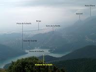El Pantà de la Baells, Berga i Queralt des del Cap de la Gotzera