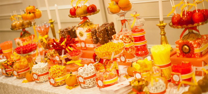 Yellow Red Wedding Cakes Eight Tiers