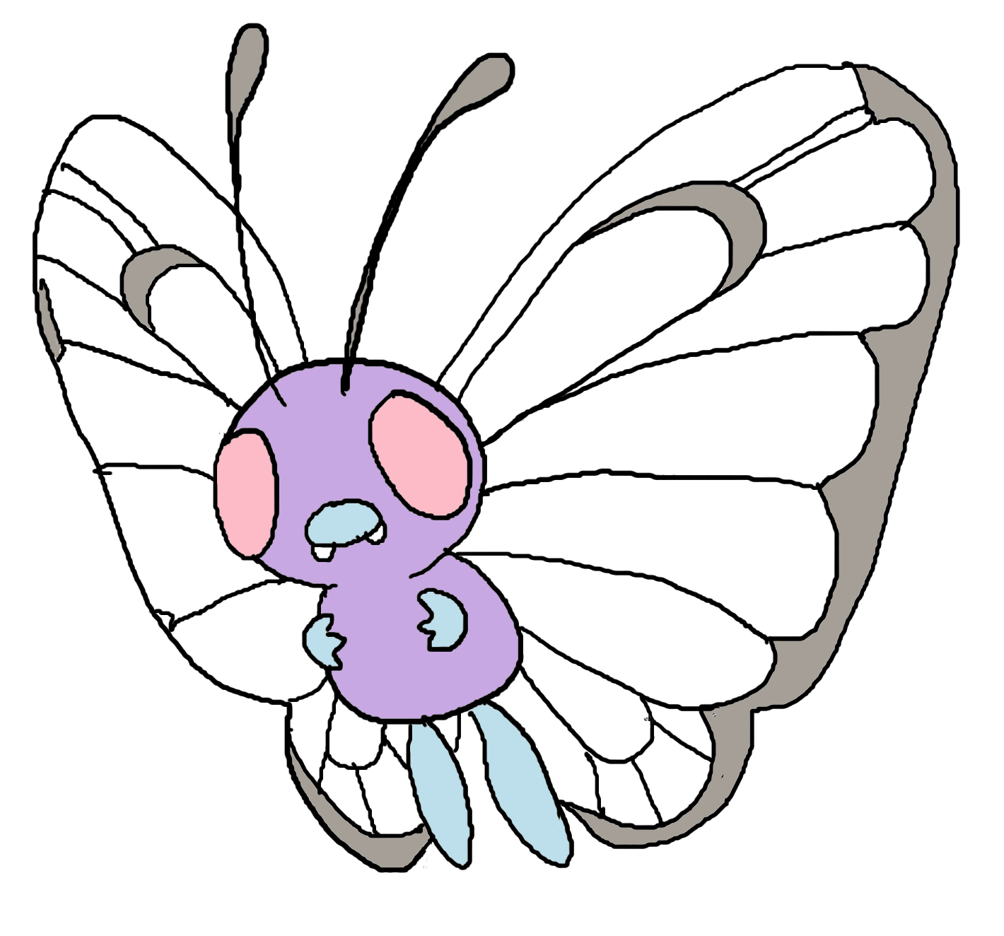 pokemon butter free coloring pages - photo#26