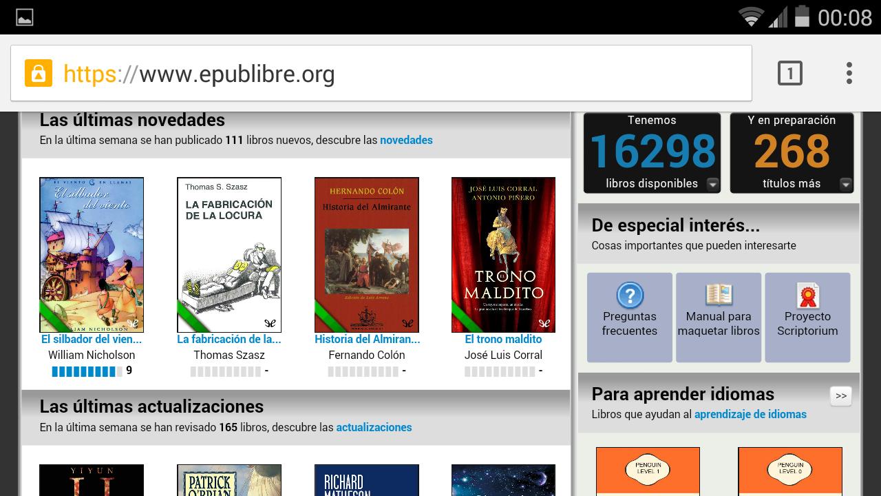 Descargar libros Gratis Android