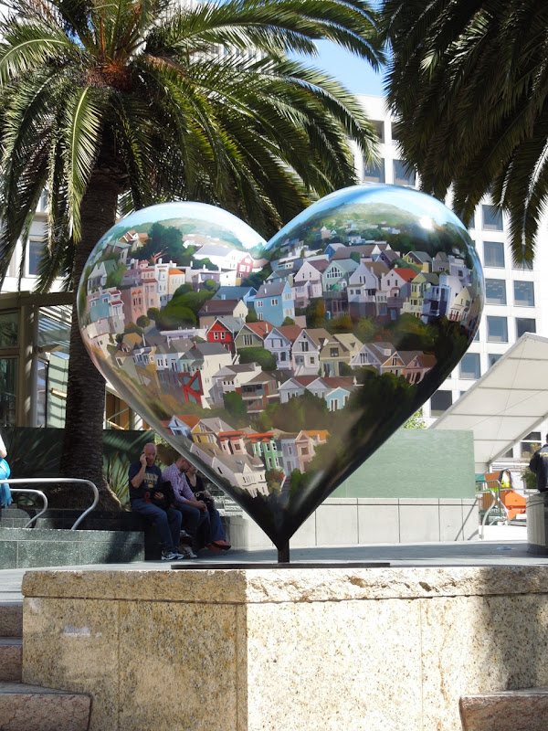 Eileen David San Francisco Housescapes Heart sculpture