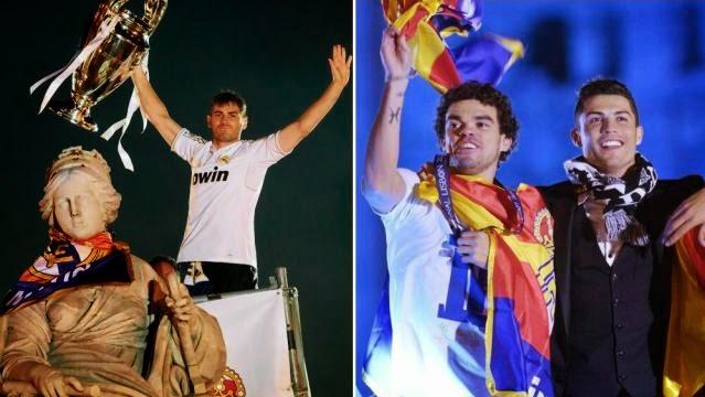 احتفالات ريال مدريد بلقب دوري الابطال