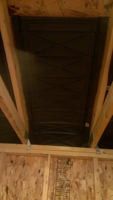 Attic Ventilation Baffle Installed