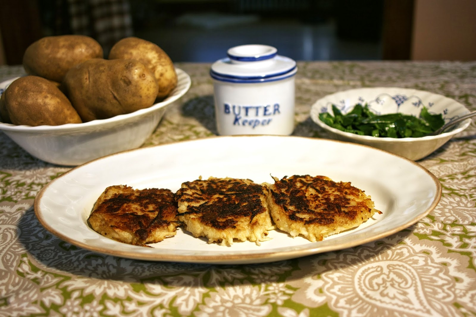 Irish Potato Pancakes w/ Parsnip: Boxty: simplelivingeating.com