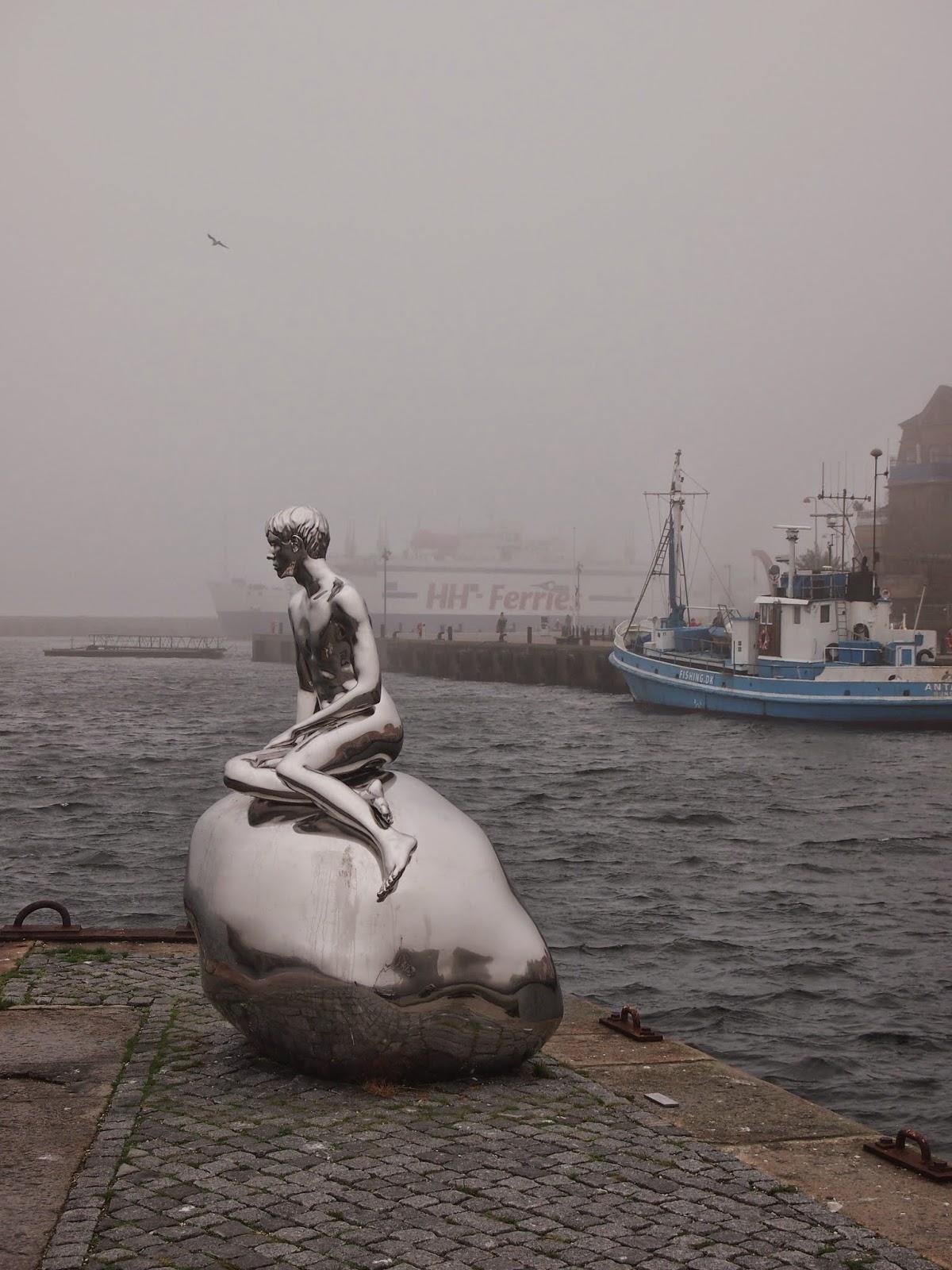 Han the merman statue in Helsingor