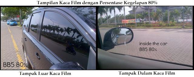 Tampilan kaca Film Mobil, Walaupun Terlihat Gelap dari Luar, tetapi masih nampak Jernih dari Dalam