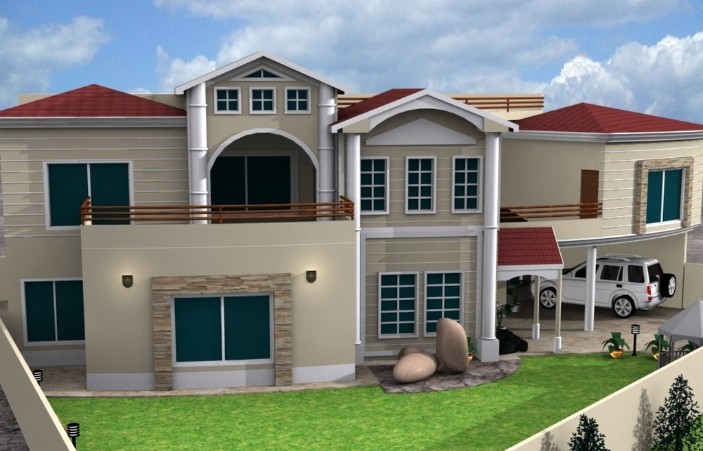 New home designs latest western homes front designs for New homes design pakistan