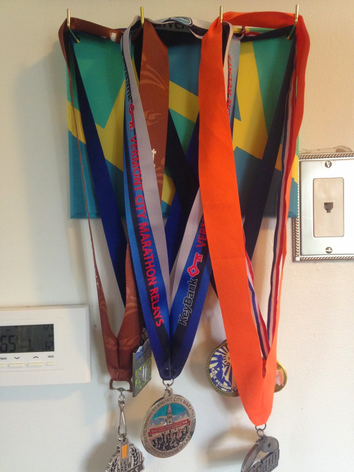 full medal rack hanging on the wall