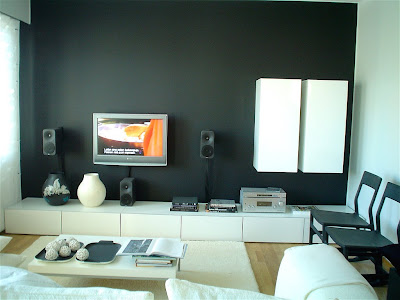 modern living room design with modern devices