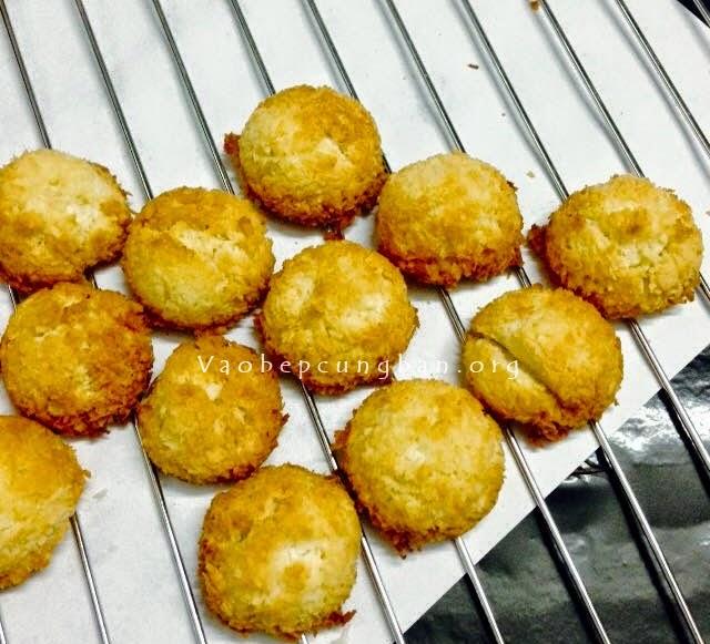Coconut macaroon - Bánh dừa tấm cực thơm ngon
