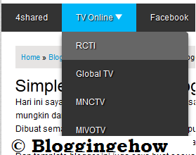 blogger multi level drop down meny