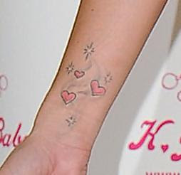 Katie price tattoo on wrist for Wrist tattoo prices