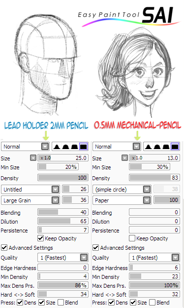 how to change settings of a paint tool sai tool