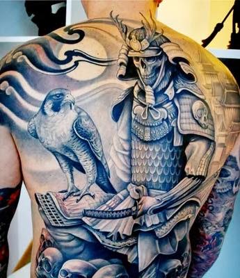 significados das tatuagens de samurai