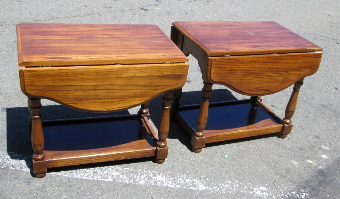 Uhuru Furniture Collectibles Sold Pair Of End Tables