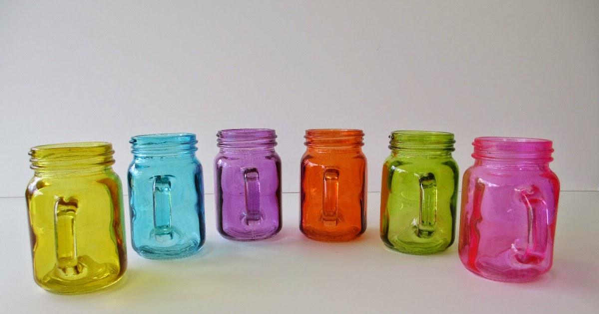 Oz Colored Glass Jars