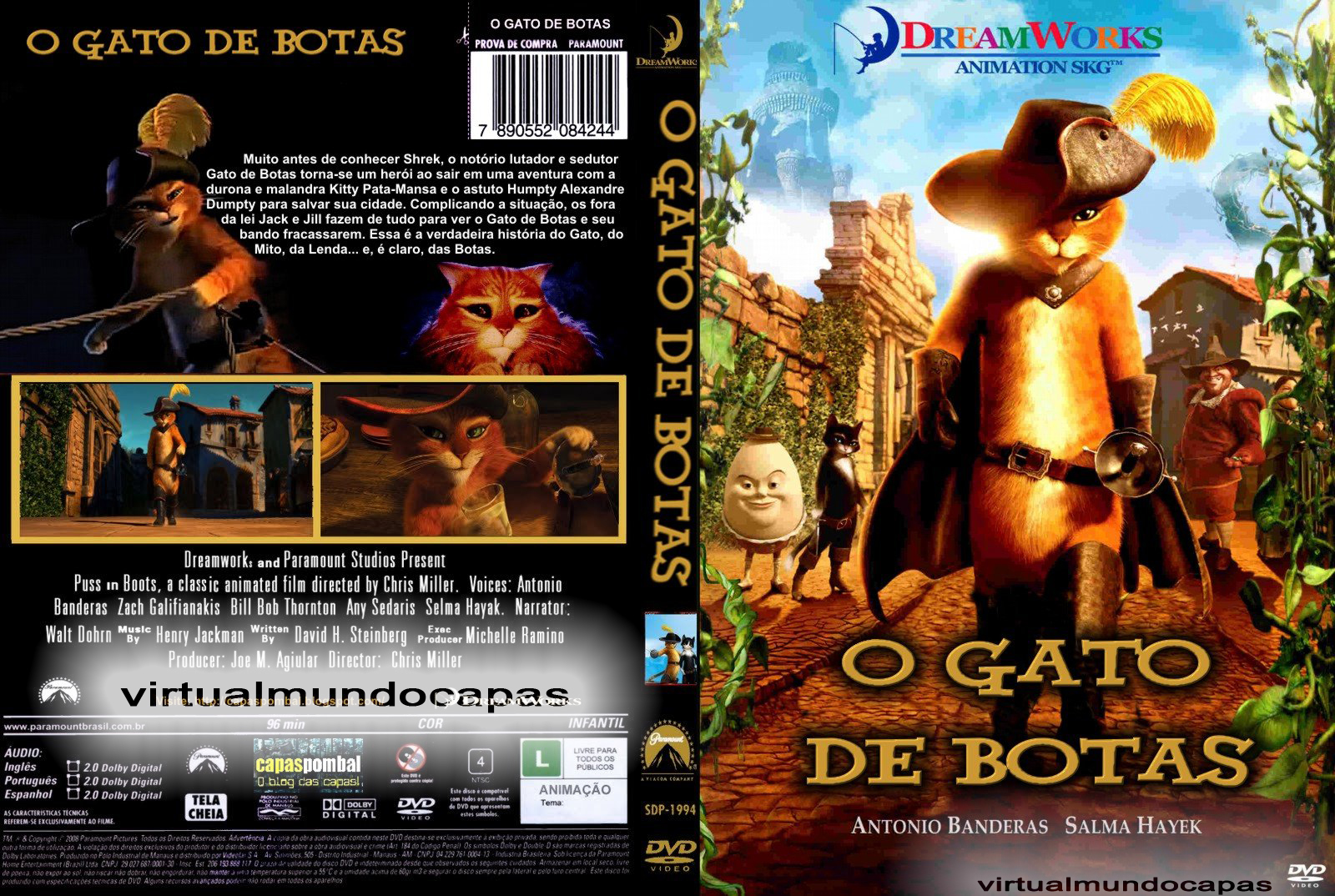 CAPA-DO FILME O GATO DE BOTAS-2011 | VIRTUAL MUNDO CAPAS
