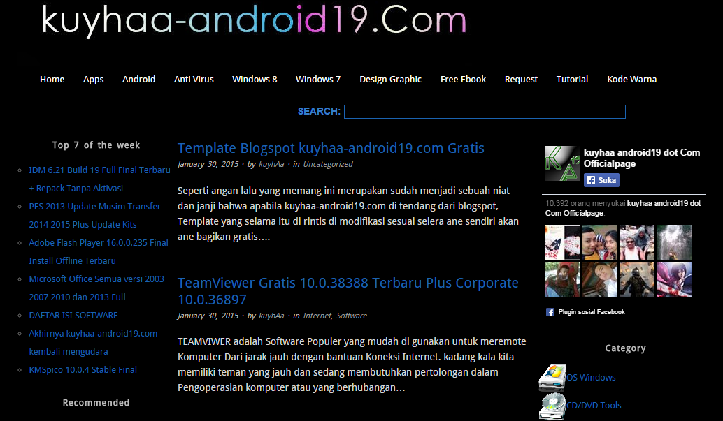 Download Template Blogger Kuyhaa Android19 Gratis
