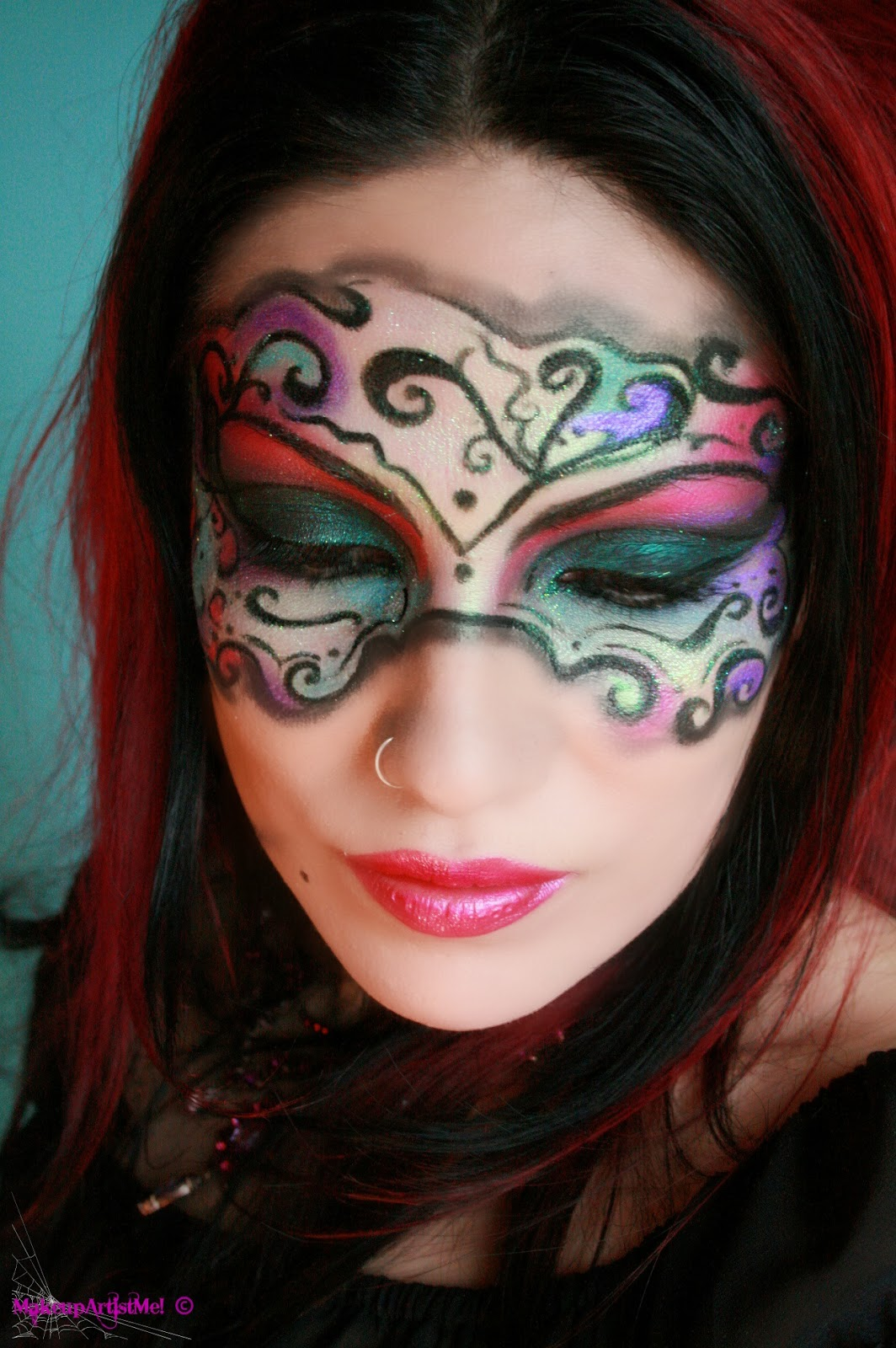 Make up artist me masked beauty masquerade costume makeup tutorial tuesday october 29 2013 baditri Gallery