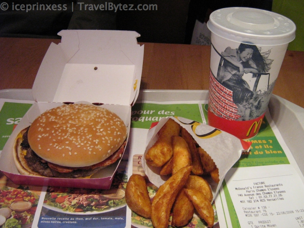 Paris Macdonalds Bacon Meal