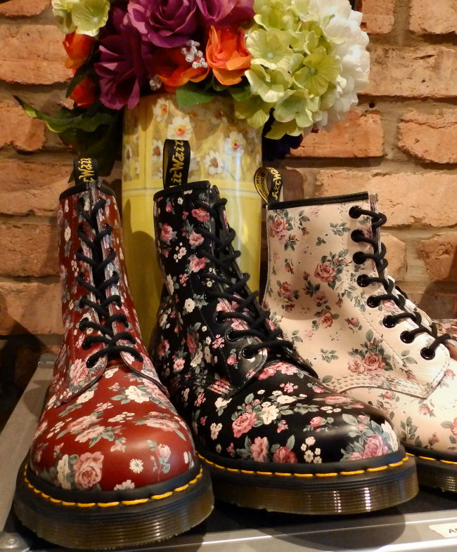 Dr Martens Liverpool One store review floral boots