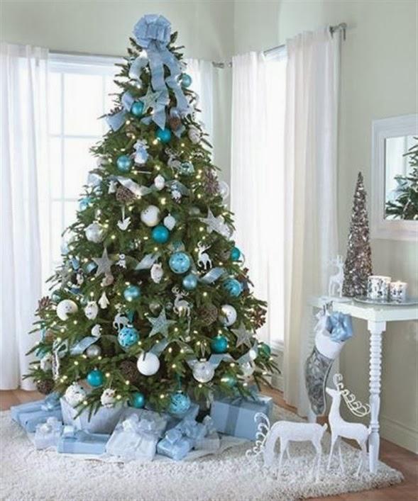 Fotos de rboles de navidad en color turquesa colores en - Fotos arboles navidenos ...