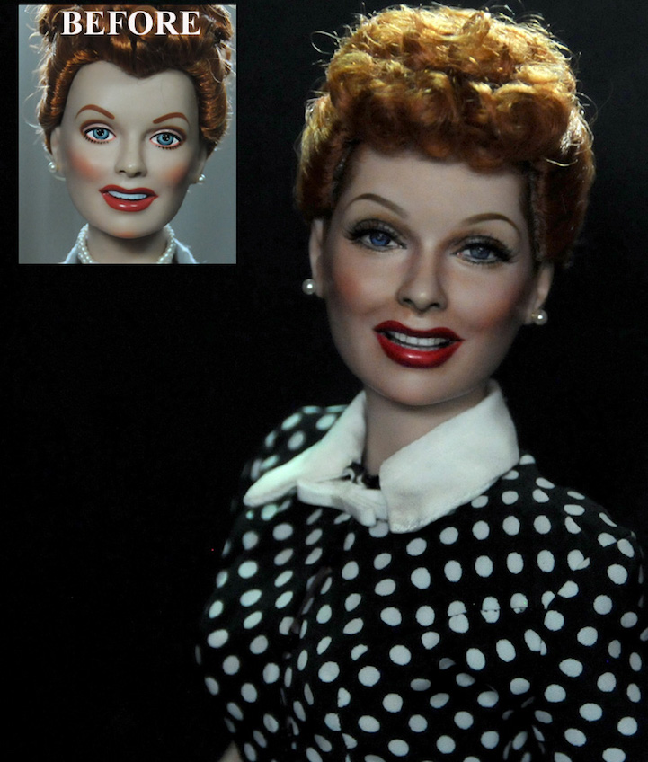 22-Lucy-Lucille-Ball-Noel-Cruz-Hyper-Realistic-Make-up-on-small-Dolls-www-designstack-co