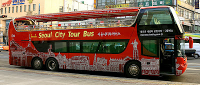 Seoul city tour double decker bus