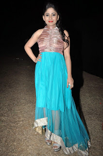 Actress Madhulagna Das Picture Gallery in Blue Dress 1