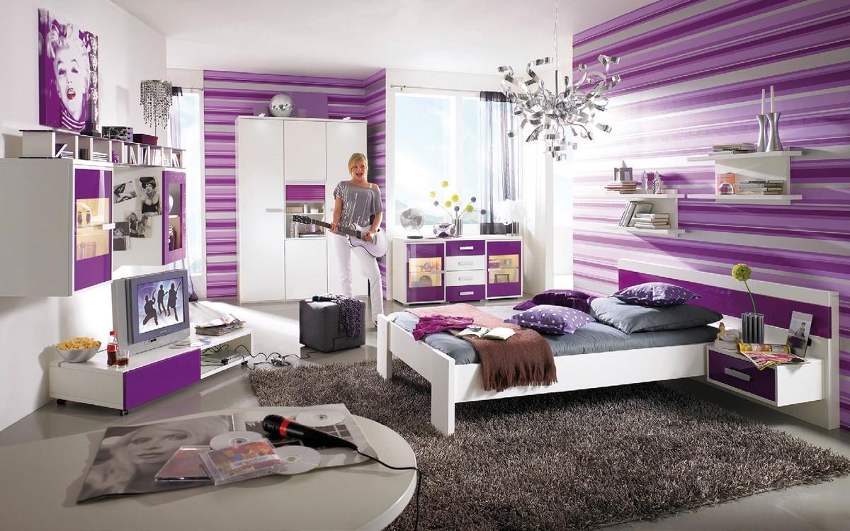 Habitaciones con estilo dormitorios morados para j venes - Habitaciones juveniles con estilo ...