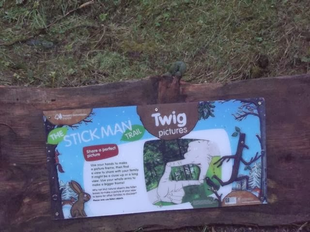 Stick man trail Whinlatter twig pictures
