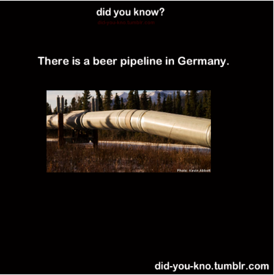 Beer Pipeline in Germany