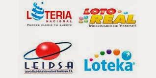 Lotería Nacional, Leidsa, Loto Real y Loteka