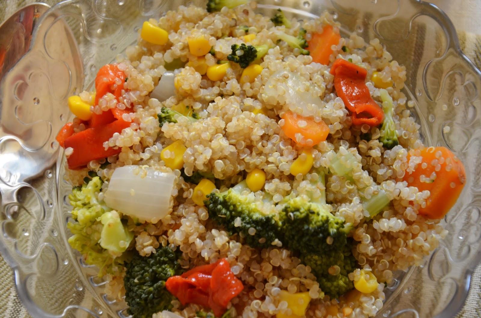 Quinoa con verduritas cuchillito y tenedor for Cuanto se cocina la quinoa