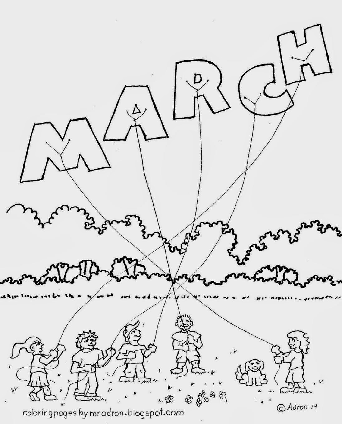 Image Gallery Month Of March Weather March Coloring Pages Free