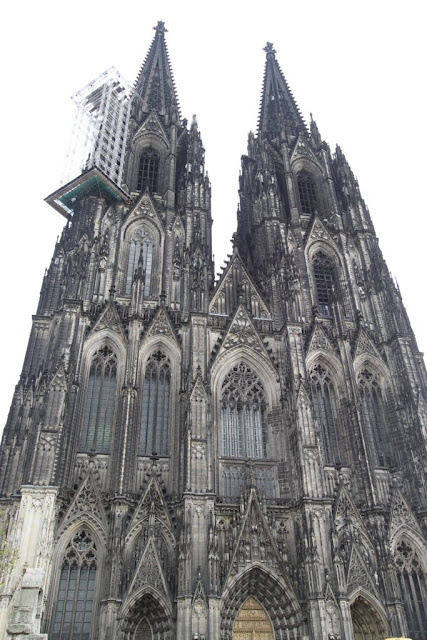 The full view of Cologne Cathedral in Cologne, Germany