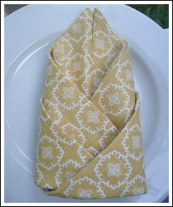crafts for parties: napkin folding ideas
