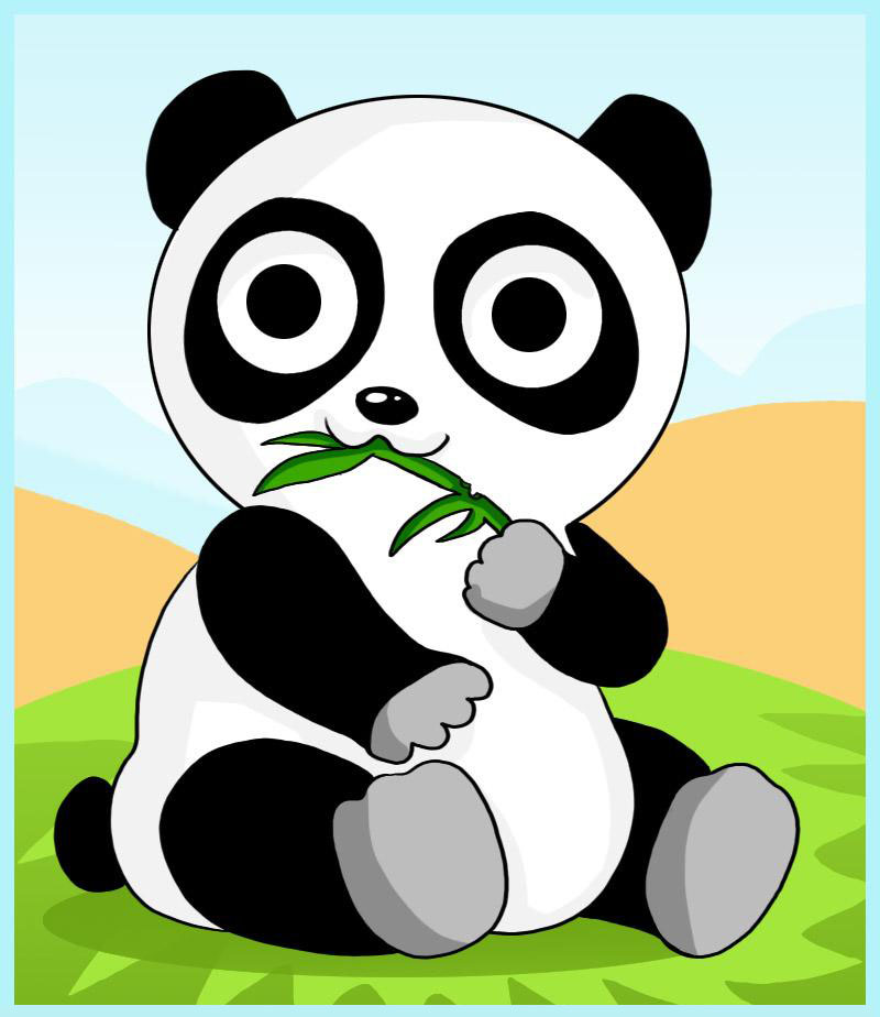 Vamos Desenhar Um Urso Panda Muito Fofo on Coloring Pictures Of Animals At The Zoo