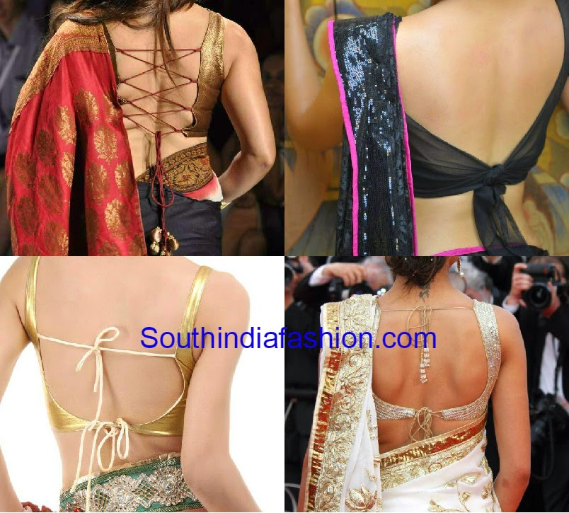 backless blouse designs for sarees