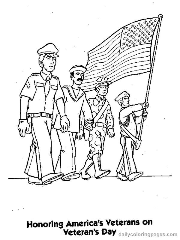 veterans day online coloring pages - photo#19