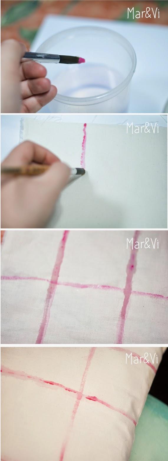 Cómo hacer una tela estampada artesanal