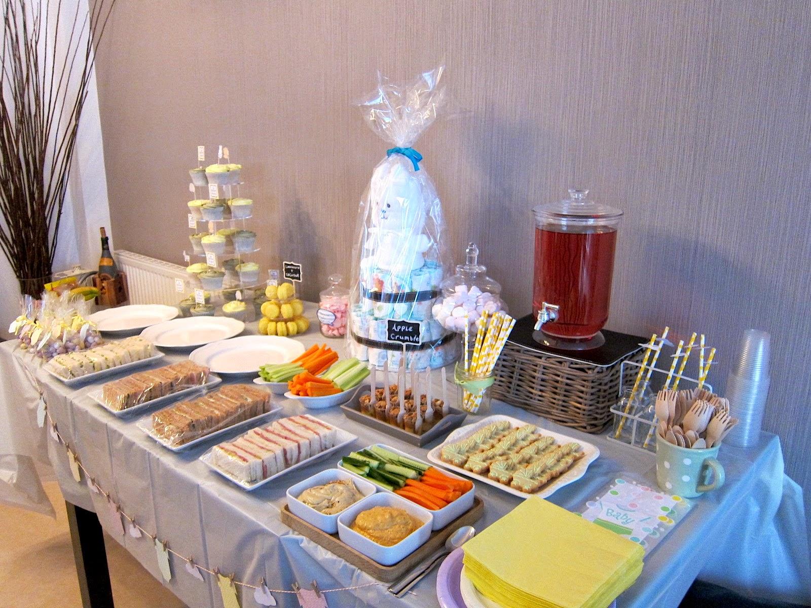 Desserts Set Up First! Hand Made Baby Shower ...