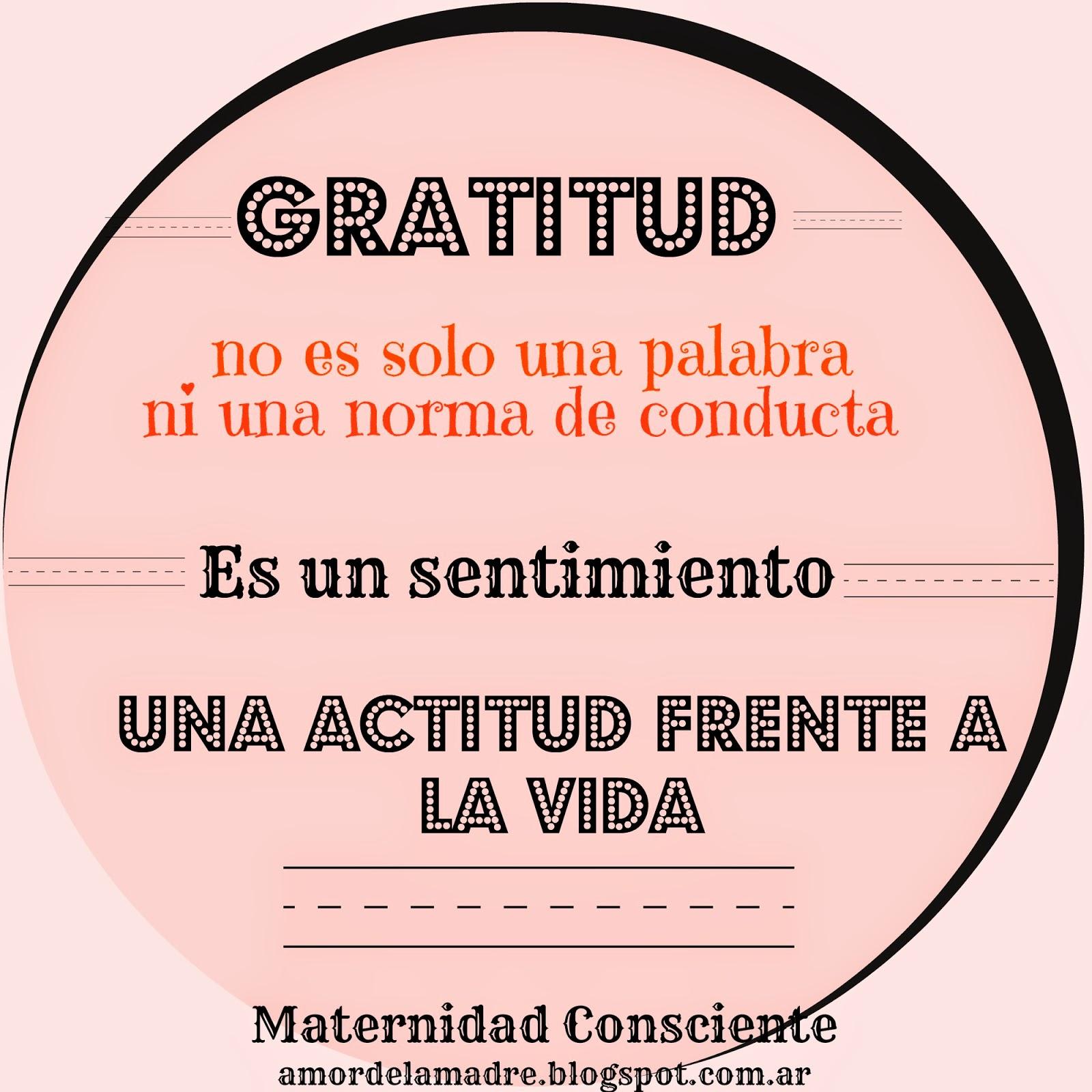 La gratitud es natural