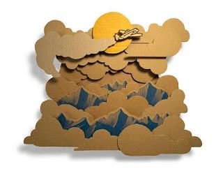 Murales 3D con Carton Reciclado
