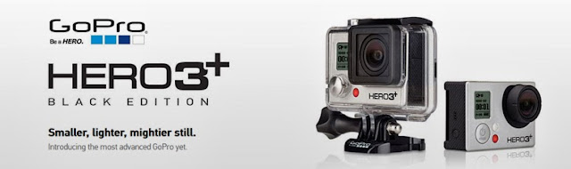 go pro hero 3 plus camera (black & silver editions)
