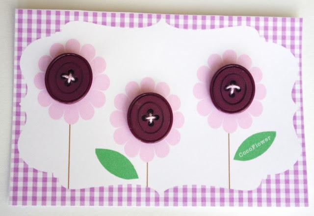 #fleurs #bouton #violet plastique www.CocoFlower.net